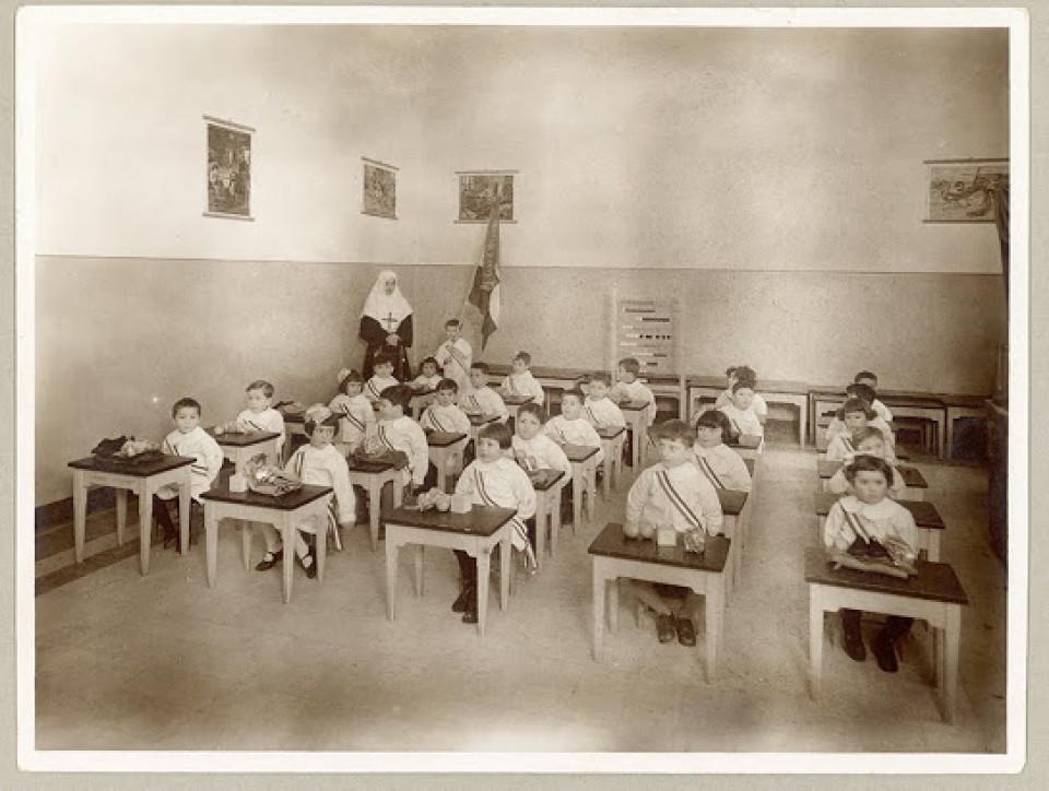 La Scuola materna di Calderara di Reno il giorno dell'inaugurazione