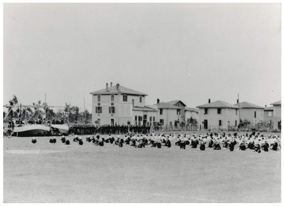 Inaugurazione del campo sportivo, Calderara, 1928