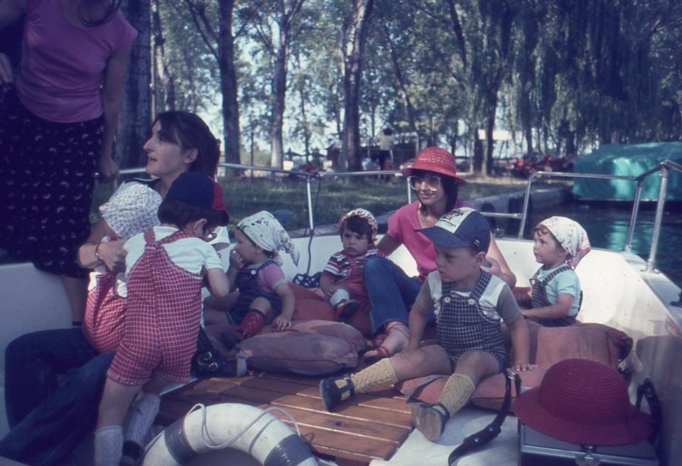 Nido Peter Pan, gita in barca, 1977