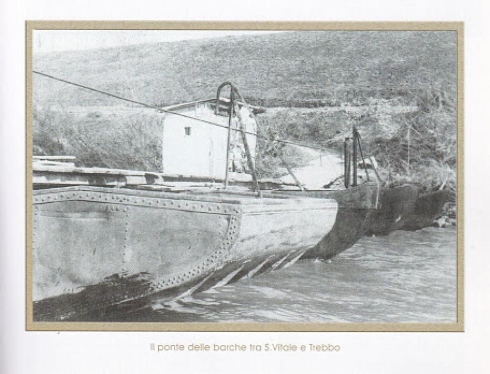 Il Ponte delle barche  tra San Vitale e Trebbo di Reno