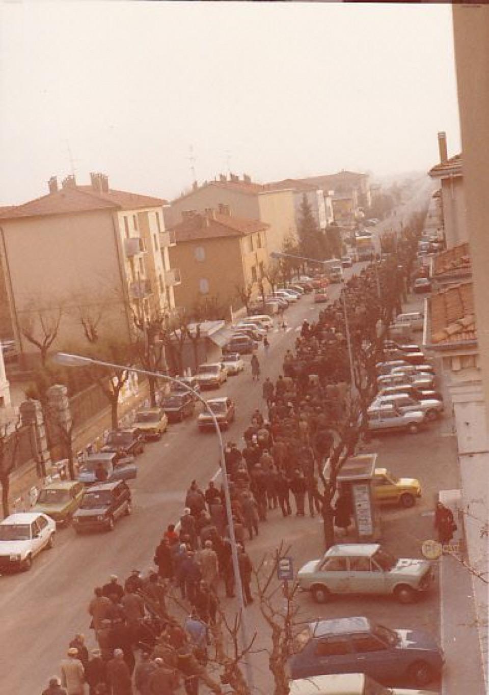 Calderara, funerale, anni '80