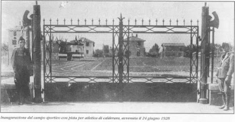 Inaugurazione del campo sportivo, Calderara 1928