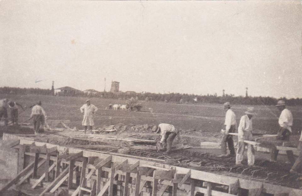 Costruzione della Strada dei Prati tra Calderara e Padulle, 1931