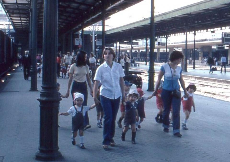 Nido Peter Pan, gita in treno a Bologna, 1978