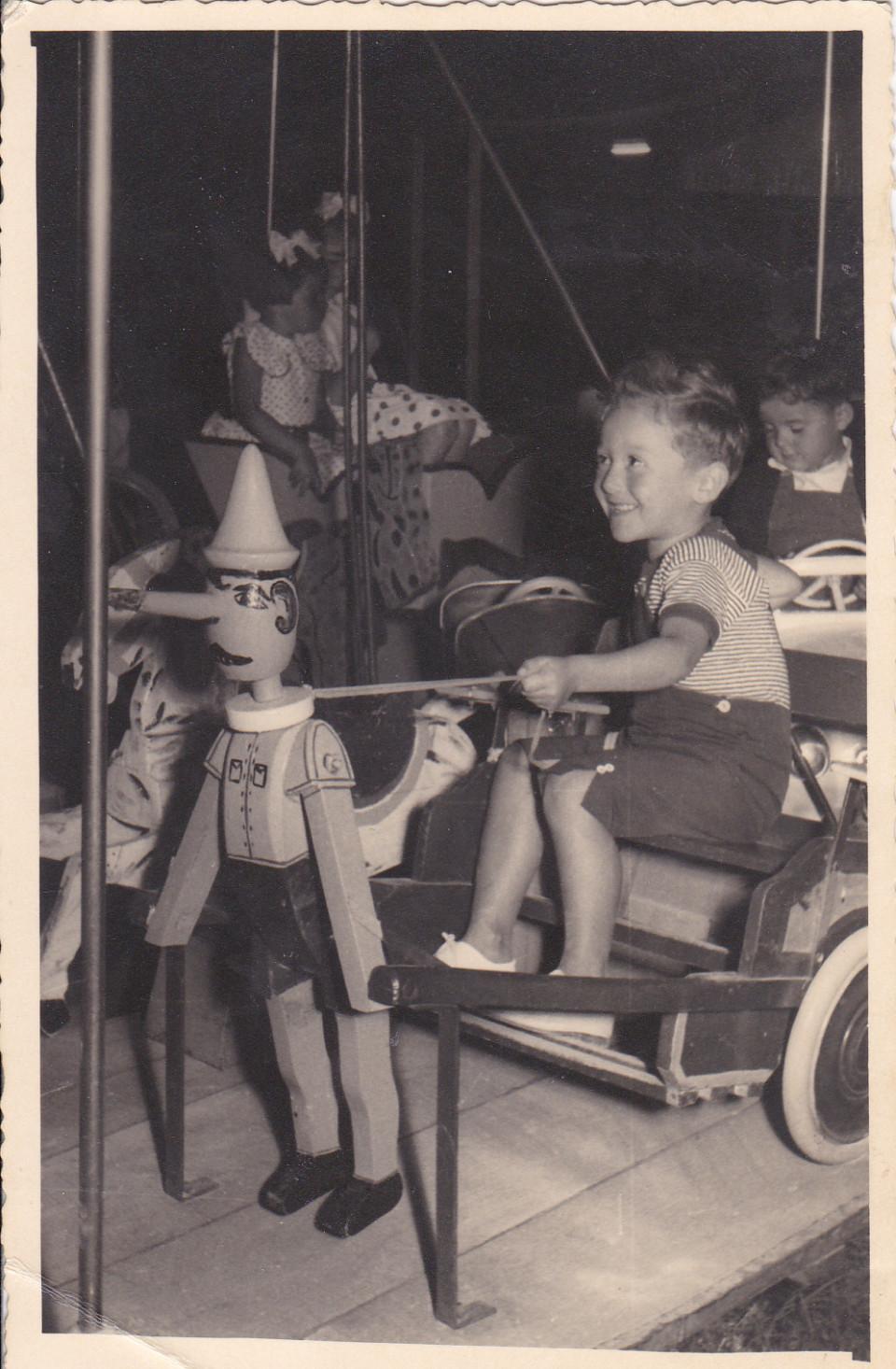 Sulla giostra, Calderara, anni '50
