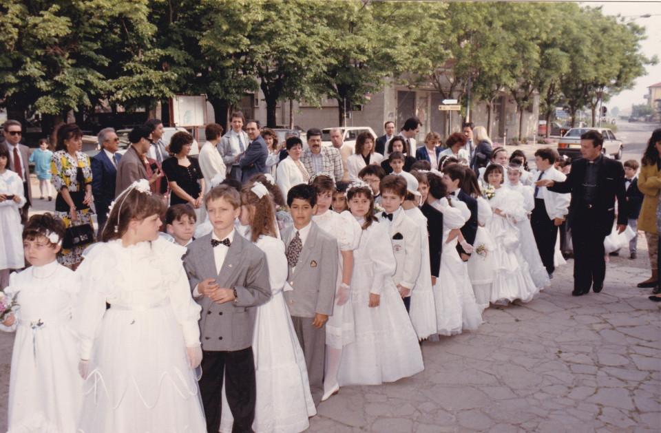 Calderara, maggio 1989, la prima Comunione