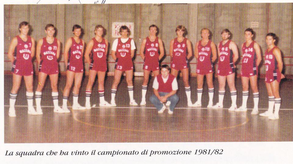 Squadra di Pallacanestro Calderara, 1981-82