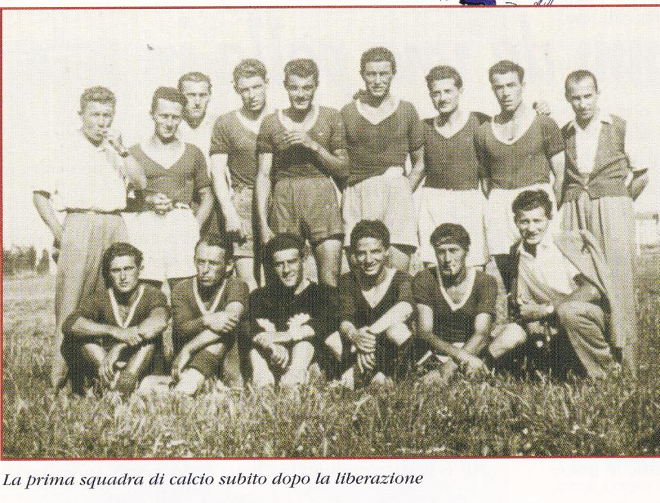 La prima squadra di Calcio di Calderara, 1945