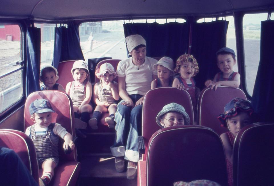 Nido Peter Pan, gita in pullman, 1977