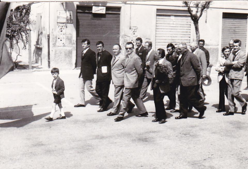 Celebrazione del XXV aprile 1971 con il sindaco Franco Vignoli