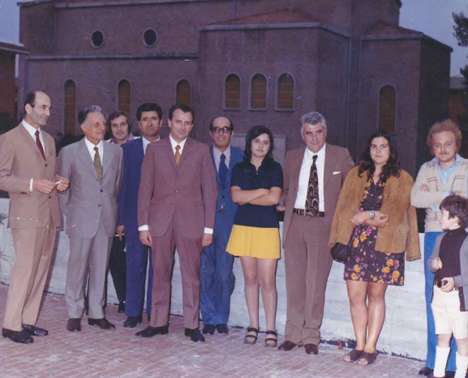 Scuola materna comunale di Calderara, inaugurazione, 1972