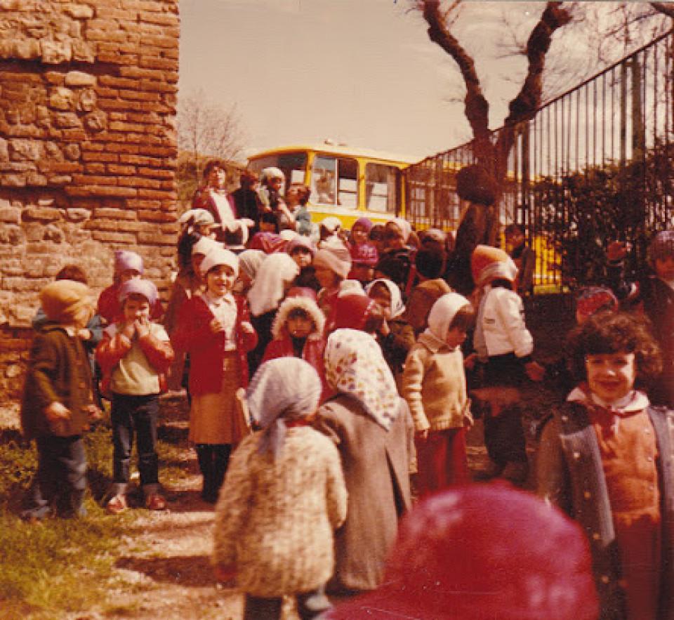Scuola materna comunale di Calderara, gita scolastica, 1979