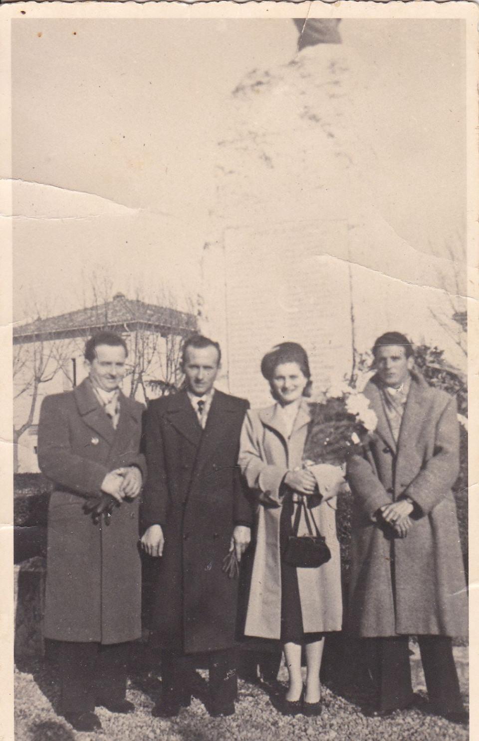 Matrimonio di Evelina Stanzani e Primo Grazia, 1951