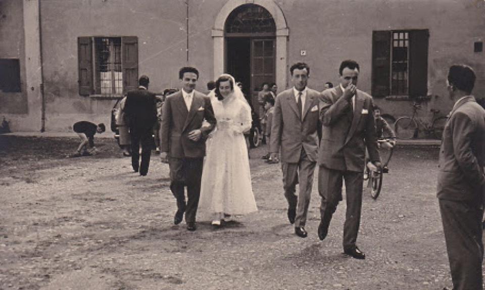 Matrimonio di Clara Bassi e Vittorio Poli, Longara, 1955