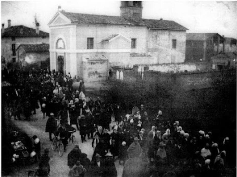 Chiesa e cimitero di Calderara, 1918
