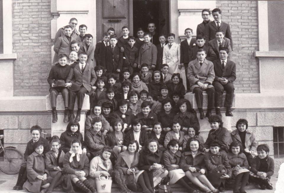 Anno scolastico 1965/66 Classi I, II, III media di Calderara