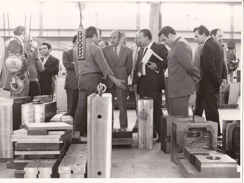 Bargellino, visita all'officina Girotti, anni '70