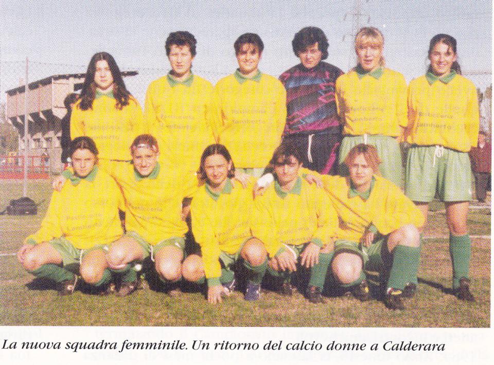 Squadra femminile di Calcio di Calderara