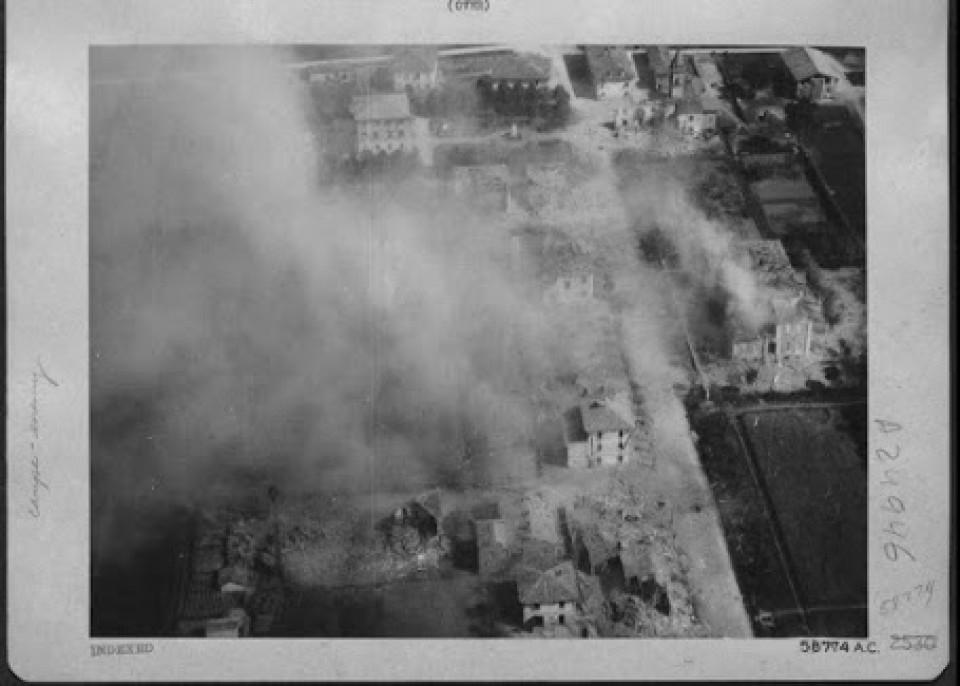 Bombardamento a Calderara, 1944
