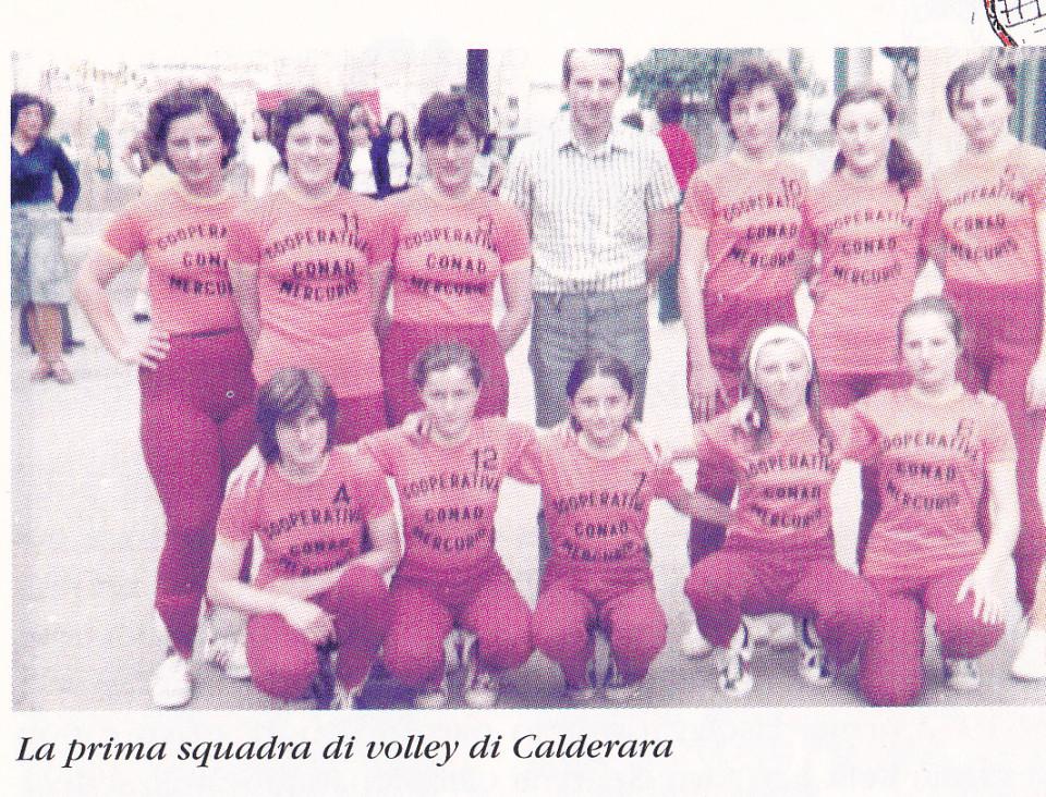 La prima squadra di Pallavolo di Calderara, 1972
