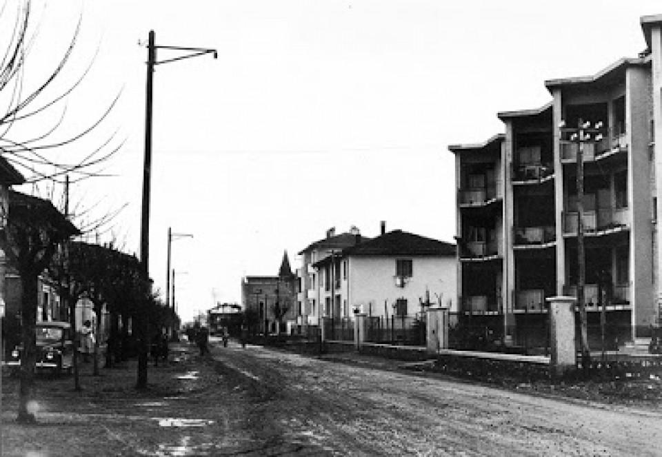 Calderara, via Roma, anni '50