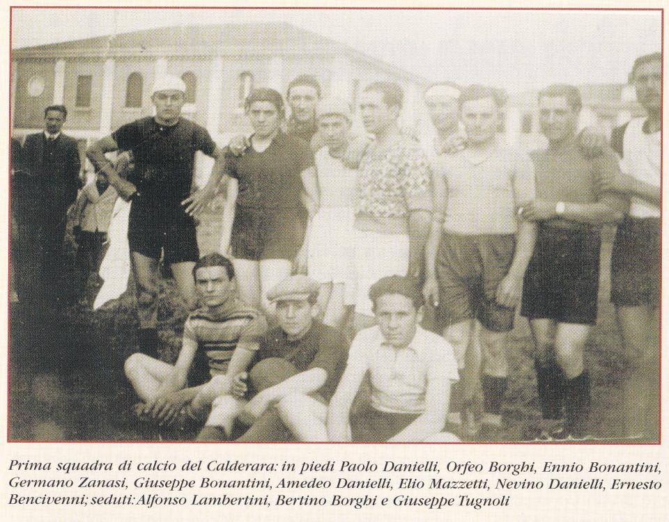 La prima squadra di Calcio di Calderara