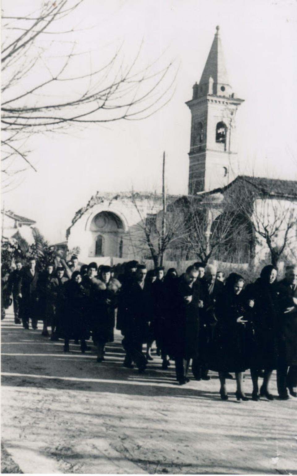 Funerale a Calderara, anni '40-'50